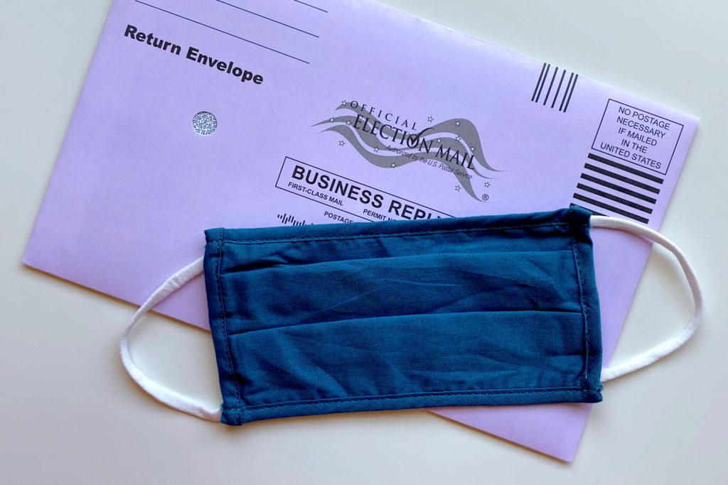 Face Mask and Election Mail-In Ballot