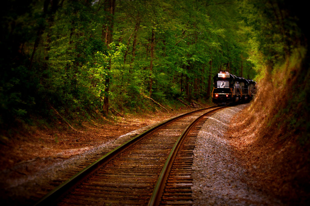Train coming down the tracks